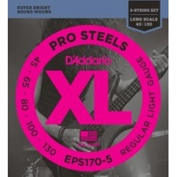 D'ADDARIO EPS-170 ProSteels 5 Cuerdas 45-130
