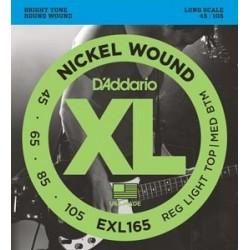 D'ADDARIO EXL-165 Nickel Escala Larga 45-105