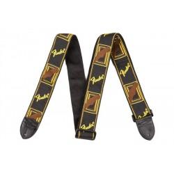 Correa FENDER Monogrammed Strap Black/Yellow/Brown