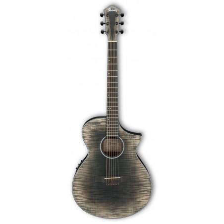 Guitarra Acústica IBANEZ AEWC32FM-GBK Glacier Black Low Gloss