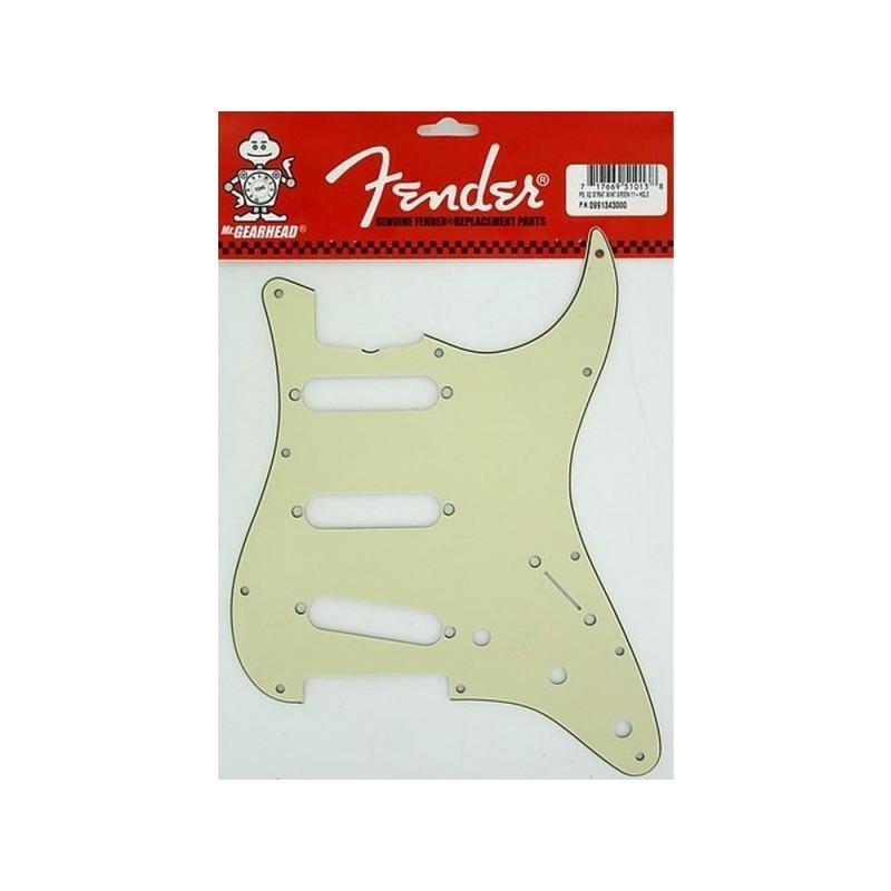 Golepador FENDER '62 Stratocaster 3 ply Mint Green 11 Agujeros
