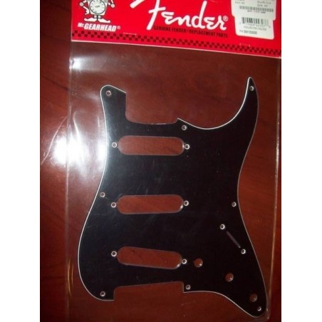 Golpeador FENDER Stratocaster 3 Ply Black 8 Agujeros