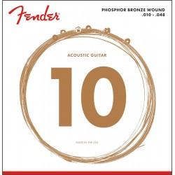 Cuerdas Acustica FENDER Phosphor Bronze 60XL (10-48)