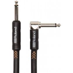 Cable ROLAND RIC-B15A Black Series Jack-Jack Recto-Acodado 4,5m