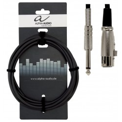 Cable ALPHA AUDIO Basic Line Jack-XLR H 9m Foto: \192