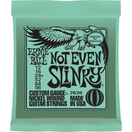 Cuerdas Electrica ERNIE BALL Nickel Wound Not Even Slinky 2626 (12-56)