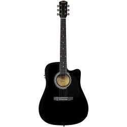 Guitarra Acustica SQUIER SA-105CE Black Foto: \192