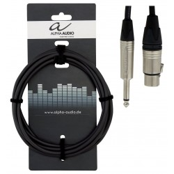 Cable ALPHA AUDIO Peak Line Jack-XLR H 9m Foto: \192