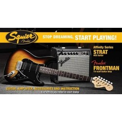 Pack Guitarra Electrica SQUIER Affinity Strato HSS Brown...