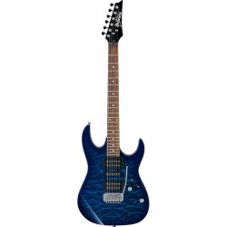 Guitarra Electrica IBANEZ GRX70QA-TBB Transparent Blue Burst Foto: \192