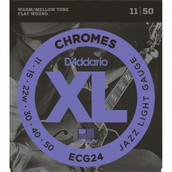 Cuerdas Electrica DADDARIO ECG24 Chromes Jazz Light (11-50) Foto: \192