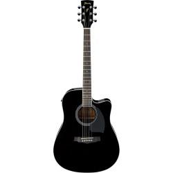 Guitarra Acustica IBANEZ PF15ECE-BK Black Foto: \192