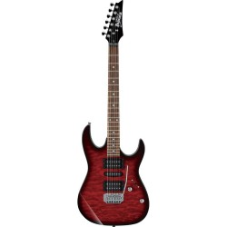 Guitarra Electrica IBANEZ GRX70QA-TRB Transparent Red Sunburst Foto: \192