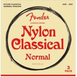 Cuerdas Clasica FENDER Pack 3 - Normal Tension Foto: \192