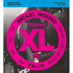 Juego de Cuerdas D´ADDARIO EXL-170 XL Bajo 45/100 Nickel Wound Regular Light Foto: \192
