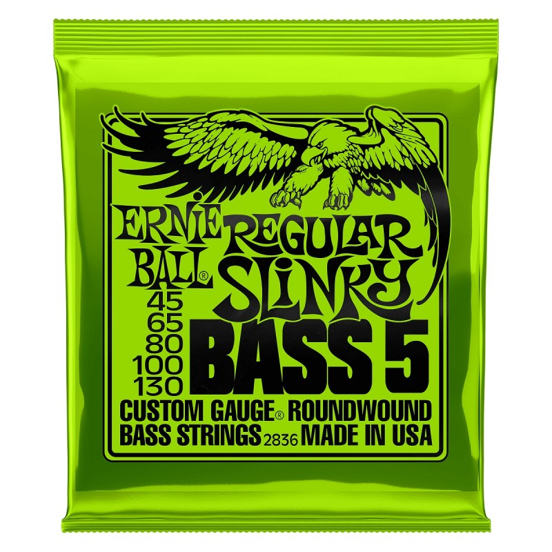 Cuerdas Bajo ERNIE BALL Super Slinky 2836 (45-130) - 5 Cuerdas Foto: \192