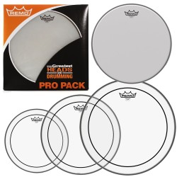 Pack Parches REMO Pro Pack Pinstripe Clear PP-0110-PS-GW - Regalo 14 Amb. Coated Foto: \192