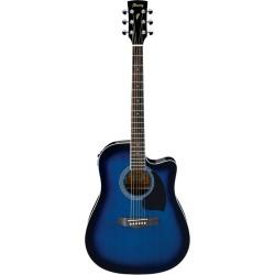 Guitarra Acustica IBANEZ PF15ECE-TBS Azul Sunburst Transparente Foto: \192