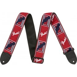 Correa FENDER Monogrammed Strap Red/White/Blue