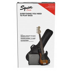 Pack Bajo SQUIER Affinity P. Bass - Rumble 15 Brown Sunburst Foto: \192