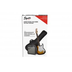 Pack Guitarra Electrica SQUIER Affinity Strato Special Brown Sunburst + Frontman 10G Foto: \192