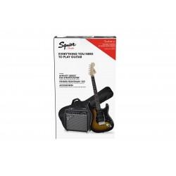 Pack Guitarra Electrica SQUIER Affinity Strato HSS Brown Sunburst + Frontman 15G Foto: \192