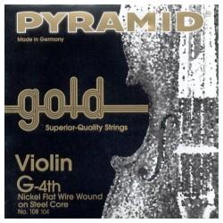 Cuerda Violin PYRAMID GOLD 4ª 108104 4/4 Foto: \192