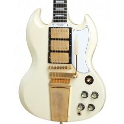 Guitarra Electrica GIBSON 63 Les Paul SG Custom Reissue W/ Maestro Vibrola VOS Classic White Foto: \192