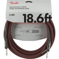 Cable FENDER Professional Series Red Tweed Jack-Jack 5,5m Foto: \192