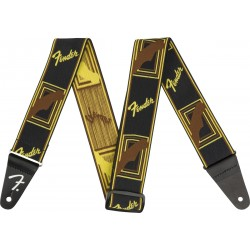 Correa FENDER Weighless 2 Monogrammed Strap Black/Yellow/Brown Foto: \192