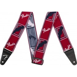 Correa FENDER Weighless 2 Monogrammed Strap Red/White/Blue Foto: \192