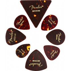 Pack puas FENDER All Shapes Celluloid Medley Tortoise Shell Medium (8 Unidades) Foto: \192