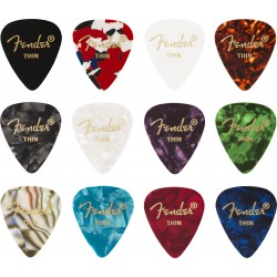 Pack puas FENDER 351 Shape Celluloid Medley Thin (12 Unidades) Foto: \192