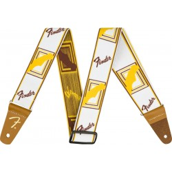 Correa FENDER Weighless 2 Monogrammed Strap White/Brown/Yellow