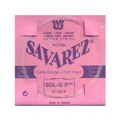 Cuerda Clasica SAVAREZ Carta Roja 3ª 523-R Foto: \192