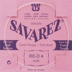 Cuerda Clasica SAVAREZ Carta Roja 4ª 524-R Foto: \192