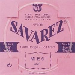 Cuerda Clasica SAVAREZ Carta Roja 6ª 526-R Foto: \192