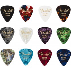Pack puas FENDER 351 Shape Celluloid Medley Extra Heavy (12 Unidades) Foto: \192