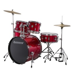 Bateria LUDWIG Accent Fuse LC170 Red Foil Foto: C:QuerryFotos WebBateria LUDWIG Accent Fuse LC170 Red Foil