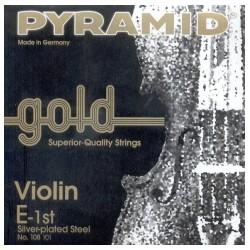 Cuerda Violin PYRAMID GOLD 1ª 108101 4/4 Mi bola Foto: C:QuerryFotos WebCuerda Violin PYRAMID GOLD 1 108101 4-4 Mi bola
