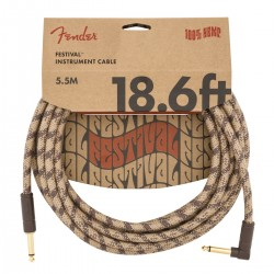 Cable FENDER Festival Hemp Pure Hemp Brown Stripe 5,5m Foto: C:QuerryFotos WebCable FENDER Festival Hemp Pure Hemp Brown Stripe