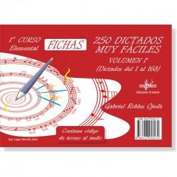 250 Dictados Muy Fáciles Vol. 1 (audio en APP) 1º Grado Elemental - Ediciones Si Bemol Foto: C:QuerryFotos Web250 Dictados Muy F