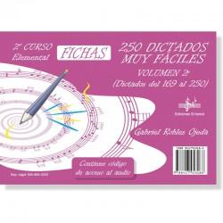 250 Dictados Muy Fáciles Vol. 2 (audio en APP) 2º Grado Elemental - Ediciones Si Bemol Foto: C:QuerryFotos Web250 Dictados Muy F