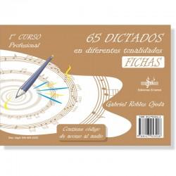 65 Dictados en diferentes Tonalidades (audio en APP) 1º Grado Profesional - Ediciones Si Bemol Foto: C:QuerryFotos Web65 Dictado