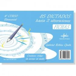 85 Dictados hasta 2 Alteraciones (audio en APP) 4º Grado Elemental - Ediciones Si Bemol Foto: C:QuerryFotos Web85 Dictados hasta