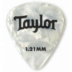 Pack puas TAYLOR 351 Celluloid White Pearl 1.21mm (12 Unidades) Foto: C:QuerryFotos WebPack puas TAYLOR 351 Celluloid White Pear