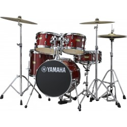 Bateria YAMAHA Junior Kit Manu Katche JJK6F5CR Cranberry Red Foto: C:QuerryFotos WebBateria YAMAHA Junior Kit Manu Katche JJK6F5