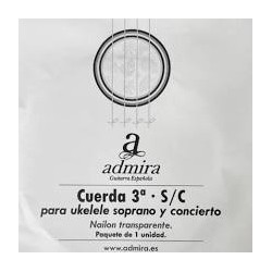 Cuerda ADMIRA Ukelele 3ª Soprano Concierto Clear Foto: C:QuerryFotos Web\Cuerda ADMIRA Ukelele 3ª Soprano Concierto Clear