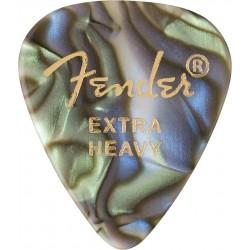 Pack puas FENDER 351 Shape Premium Celluloid Abalone Extra Heavy (12 unidades) Foto: C:QuerryFotos Web\Pack puas FENDER 351 Shap