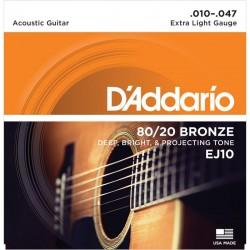 Cuerdas Acustica DADDARIO EJ-10 Bronze (10-47) Foto: C:QuerryFotos Web\Cuerdas Acustica DADDARIO EJ10